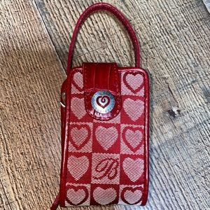 Vintage Brighton Cell Phone Holder red hearts